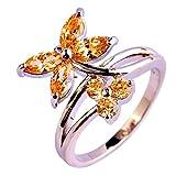 PSEZY Mystic Rainbow Topaz Amethyst rings for Women Vintage Engagement Rings Promise Rings MAE556-B370 6.0