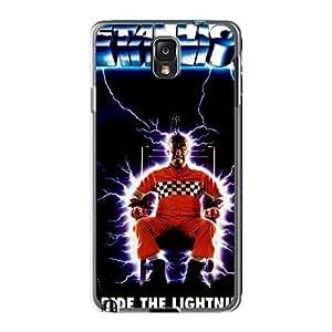 KennethKaczmarek Samsung Galaxy Note3 Shock Absorbent Cell-phone Hard Cover Customized Fashion Metallica Ride The Lightning Band Skin [efI7877XpYs]