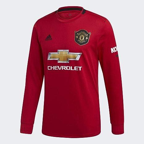adidas MUFC H JSY L Camiseta De Manga Larga, Hombre, rojrea, 2XL: Amazon.es: Deportes y aire libre