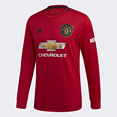 Amazon Com Adidas Man Utd L S Home Jersey 2019 2020 Xs Clothing