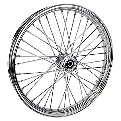 amazon chrome front 40 spoke spool hub wheel 21 x 2 15 fits Bike Rear Hub chrome front 40 spoke spool hub wheel 21 x 2 15 fits harley 3 4 quot