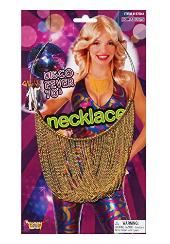 Disco Chain Adult Necklace Accessory Size One-size (Boogie Man Costume)