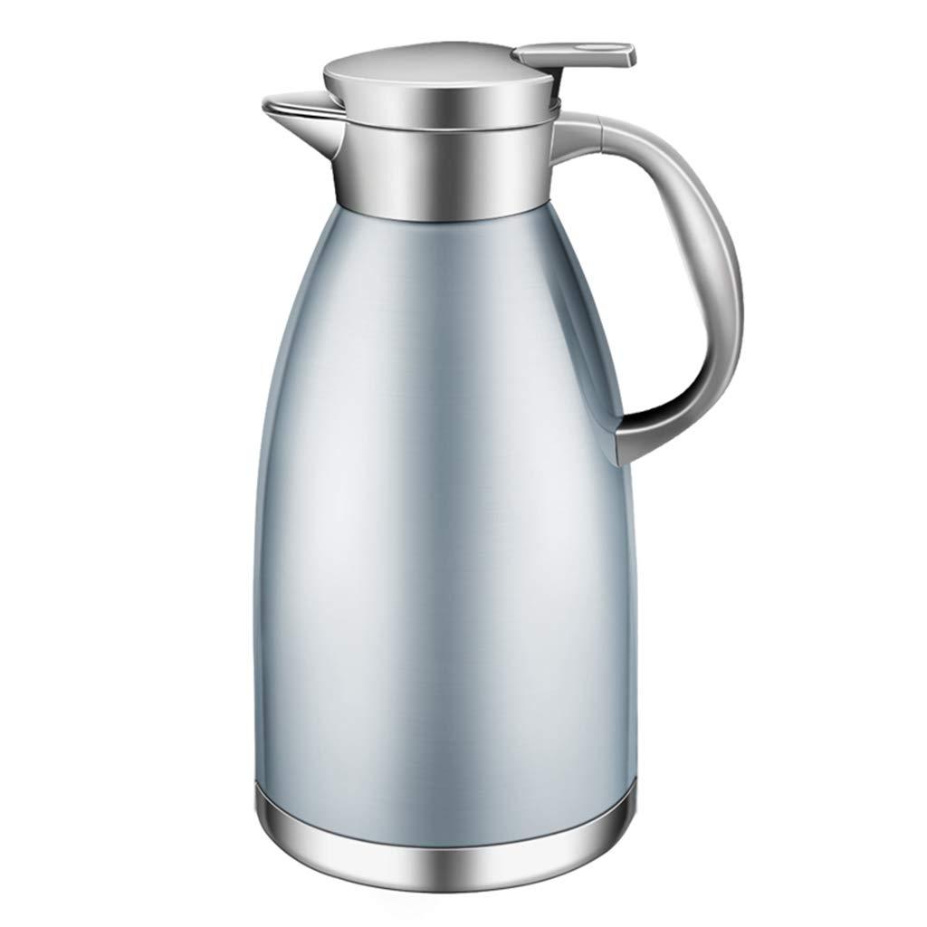 FYCZ Thermoskannen,2L Große Kapazität Aus Edelstahl Thermos Kaffeekaraffe Doppelwandig Vakuumisolierte Kaffeekanne Krug Dicht Kältefest