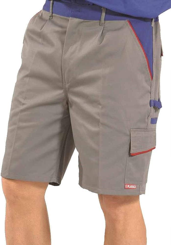 Gr/ö/ßentabelle s 2373 Planam Shorts Highline zink//kornblau//rot Produktbeschreibung