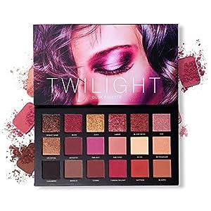 UCANBE Professional 18 Pigmented Eyeshadow Makeup Palette, 10 Matte + 7 Shimmer + 1 Metallic Glitter, Velvet Texture…