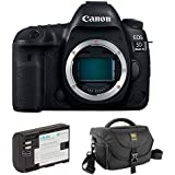 Canon EOS 5D Mark IV DSLR Camera (Body Only) with LP-E6 Lithium-Ion Battery Pack and Journey 34 DSLR Shoulder Bag
