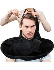 DIY Hair Cutting Cloak Umbrella Cape Salon Barber Salon And Home Stylists Using (Black)