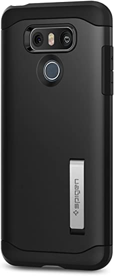 Spigen, Funda Compatible con LG G6 [Slim Armor] Air Cushion [Black ...