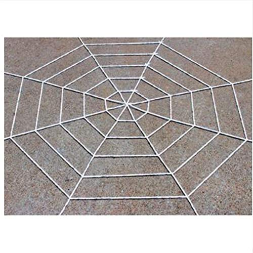 Fake Spider Web Halloween for outdoor/Indoor Party Decorations 19.7Inch White]()