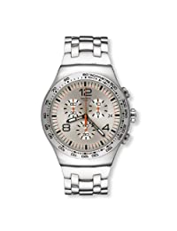Swatch Men's Shiny YOS445G Stainless Steel Wrist Watches