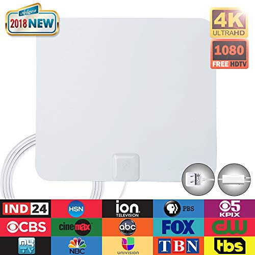 Digital TV Antenna-ANTOP Indoor HDTV Antenna 50 Miles Range