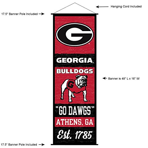 (Georgia Bulldogs Banner and Scroll Sign)