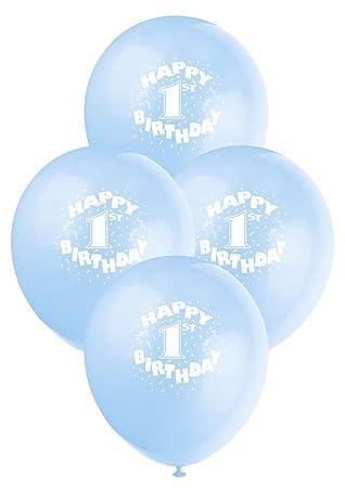 Amazon 12 Latex Blue Happy 1st Birthday Balloons 6ct
