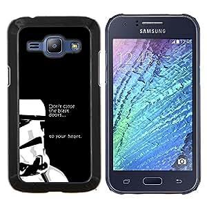 Qstar Arte & diseño plástico duro Fundas Cover Cubre Hard Case Cover para Samsung Galaxy J1 J100 (No cierre la explosión Puertas)