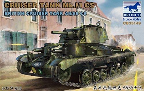 BRONCO MODELS 1/35 Cruiser Tank Mk.I/I CS British Cruiser Tank A9/A9CS CB35149 ()