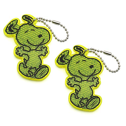 BSK Safety Reflector - Snoopy - Green - 2 - Pack ()