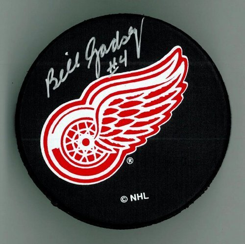 Bill Gadsby Autographed Detroit Red Wings Puck #2