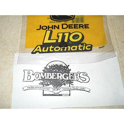 John Deere L110 automatic hood Decals set of two GX21156