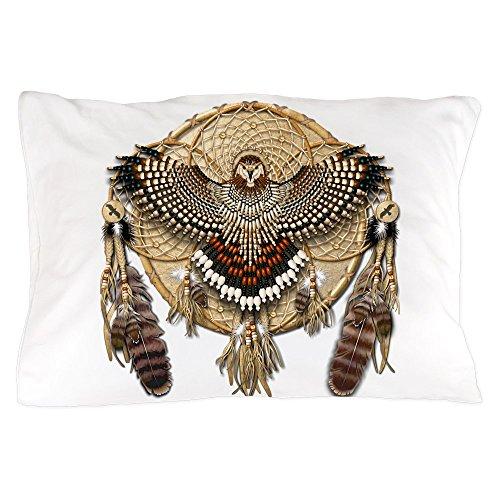 CafePress - Red-Tail Hawk Dreamcatcher - Standard Size Pillow Case, 20