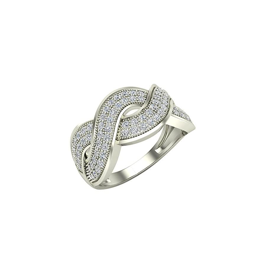 0.65 ct tw Intertwined Anniversary Diamond Band Ring 18K Gold (G,VS)