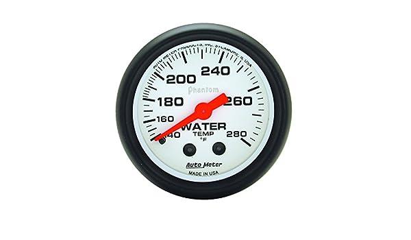 Auto Meter 5731 Phantom Mechanical Water Temperature Gauge