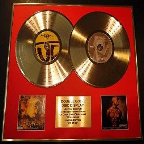 Tupac Double Cd Gold Disc Photo Display Ltd Edition Coa Resurrection Until The End Of Time Küche Haushalt