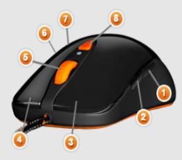 SteelSeries Sensei [Raw] Mouse Heat Orange Edition