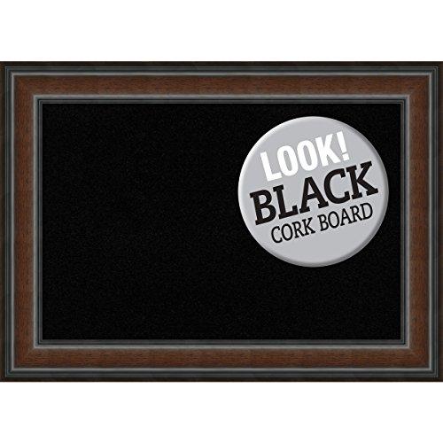 Amanti Art Framed Black Cork Board Cyprus Walnut: Outer Size 29 x 21, Medium by Amanti Art