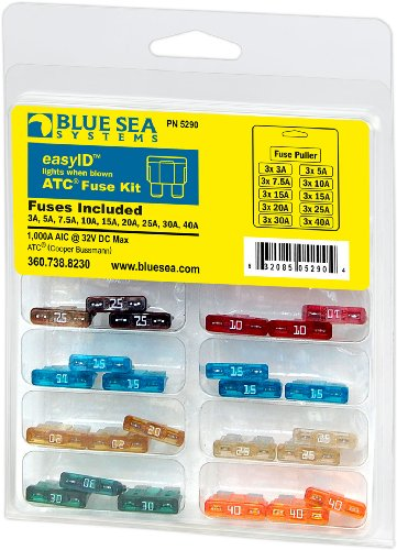 Atc Fuses Blade - Blue Sea Systems easyID Fuse Kit