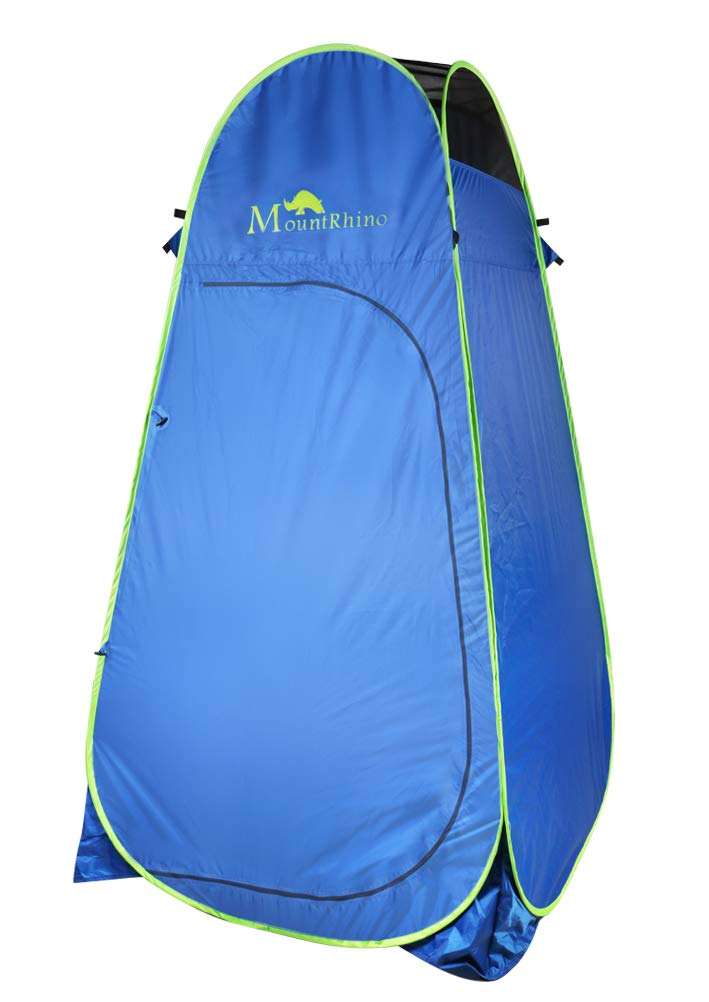 Mount Rhino Pop Up Shower Tent Portable Camping Beach Toilet Changing Room Privacy Shelter with Carrying Bag, Blue