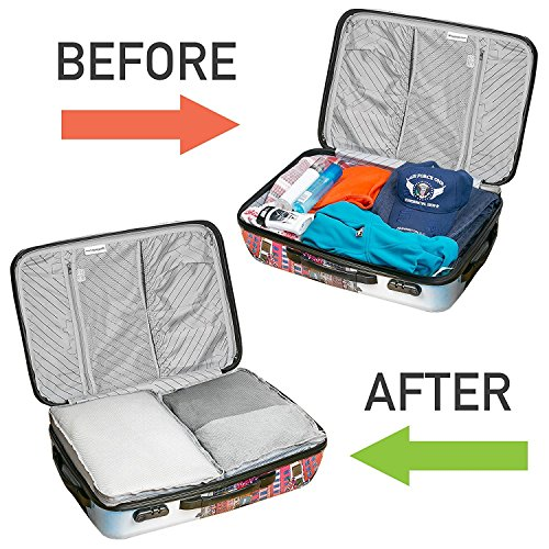 5 Set Packing Cubes - Travel Luggage Packing Organizers with Laundry Bag - Packing Cube by Isperi by Isperi (Image #3)