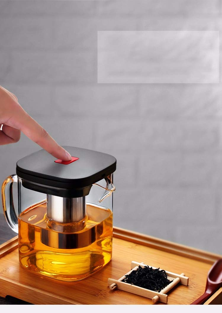 Teekanne für 2 Tassen Glas Teapot Heisse und kalte Getränke Caffee 1100ml