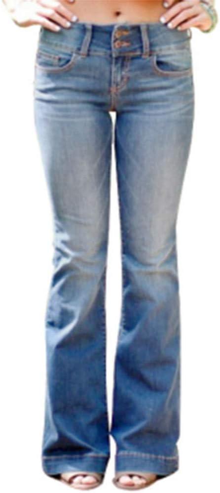 MoneRffi dżinsy damskie, szerokie nogawki, dżinsy damskie, wąskie, modne, długie spodnie: MoneRffi: Odzież