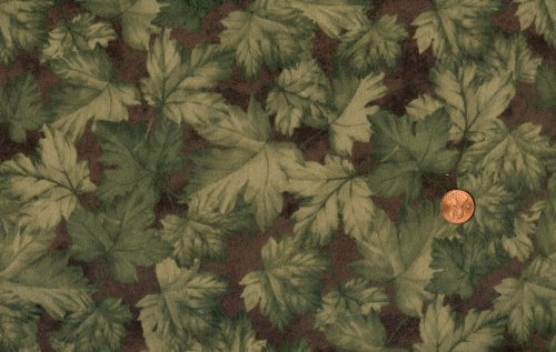 Northcott 'Riverside Flannel' Tossed Leaves on Cotton Flannel - 1yd 19in ()
