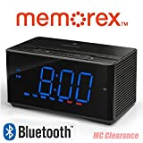 Memorex Bluetooth Clock Radio Auxiliary USB Charging Port MC5550 InteliSet NFC + Hands Free Microphone Bluetooth (Certified Refurbished)