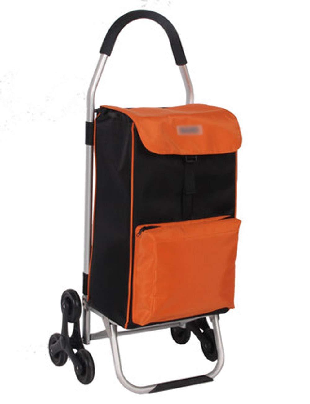 アンマーショップ ショッピングカートトロリー、アルミニウム合金構造 45cm*35cm*100cm、防水オックスフォード布、断熱層 (色 サイズ、マルチスタイルのトロリー (色 : Red, サイズ さいず : 45cm*35cm*100cm) B07H2YQNS5 Orange 45cm*35cm*100cm 45cm*35cm*100cm|Orange, e-net A furniture:fd116a28 --- 4x4.lt