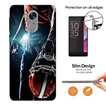 "002671 - Awesome American Football Player Helmet Sports Design HUAWEI Y7 Prime 5.5"" Fashion Trend CASE Ultra Slim Light Plastic 0.3MM All Edges Protection Case Cover-Clear"