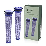 isinlive Replacement Filter for Dyson V6 V7 V8 DC58 DC59 Vacuums, Compare to Part # 965661-01, 2 Pack
