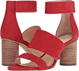 Vince Camuto Women's Junette Heeled Sandal, Cherry Red, 8.5 M US