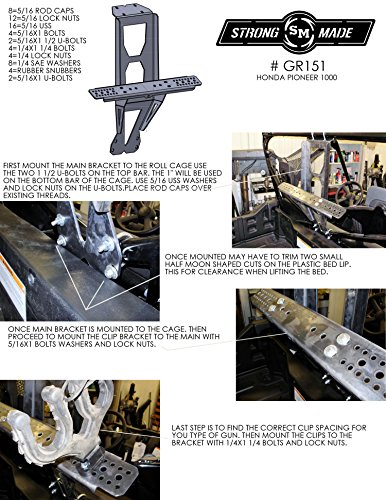 2016 Honda Pioneer 1000 Cage Mounted Gun Rack By Strong Made GR151 by Strong Made