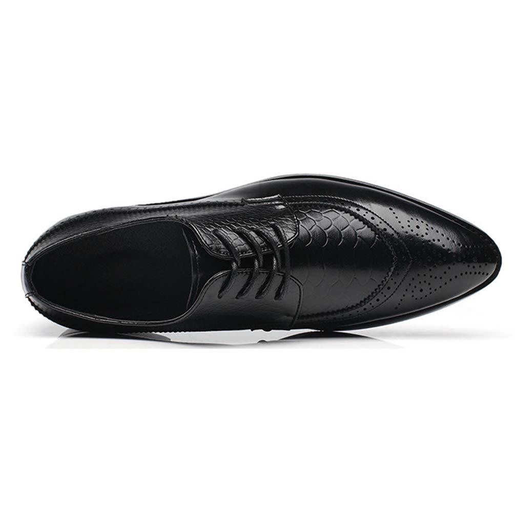 Männer Mode Schuhe PU Leder Kleid Schuhe Spitzen Zehen Halbschuhe Schuhe Mode Schnürschuhe männlich Schwarz f15fe3