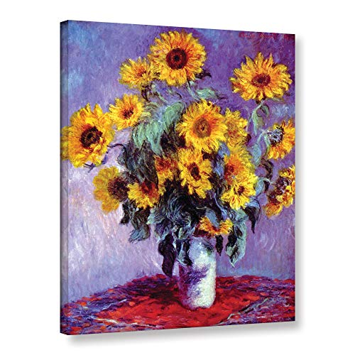 ArtWall Sunflowers Claude Monet Gallery Wrapped Canvas, 24 32-Inch