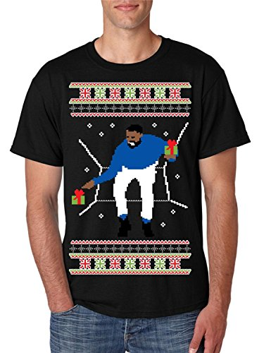 Allntrends Men's T Shirt 1-800 Hotline Bling Ugly Christmas Sweater (M, Black)