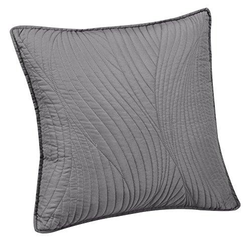 Brielle Stream Embroidered Euro Sham, Light Grey ()
