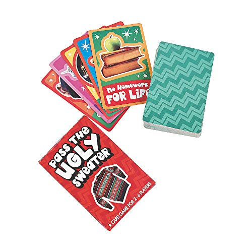 Fun Express - Pass The Ugly Sweater Card Game for Christmas - Toys - Games - Card Games - Christmas - 12 Pieces]()
