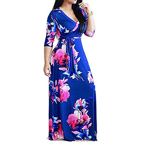 Gran Frenillo RONG Un XIU De Vestido Vestidos Una blue Mujer Con n4xnqTZRw