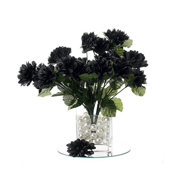 BalsaCircle 84 Black Silk Chrysanthemums – 12 Bushes – Artificial Flowers Wedding Party Centerpieces Arrangements Bouquets Supplies
