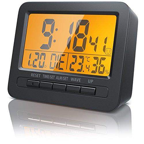 Bearware - Despertadores electrónicos/Alarma de Viaje/Alarma por Radio controlada por DCF | Pantalla LCD de 2,7