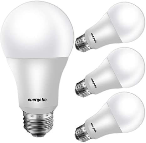 Amazon.com: Paquete de 4 bombillas LED, forma A19, base E26 ...