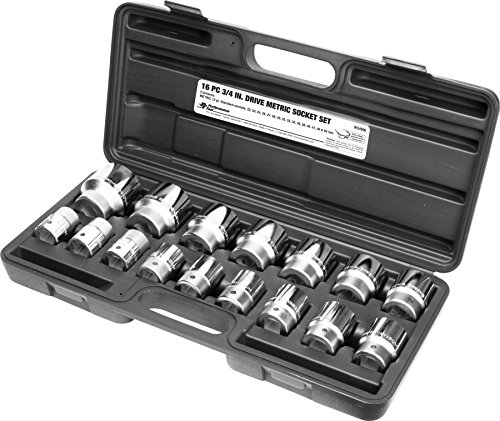 Performance Tool W34906 16-Piece Drive MM 12-Part Socket Set, 3/4-Inch